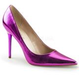 Roxo Metálico 10 cm CLASSIQUE-20 Sapatos Scarpin Salto Agulha
