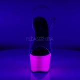 Roxo Neon 18 cm ADORE-708UV Saltos Altos Plataforma