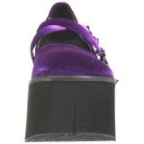 Roxo Veludo 11,5 cm KERA-10 sapatos lolita plataforma