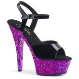 Roxo brilho 15 cm Pleaser KISS-209LG sapatos de saltos pole dance