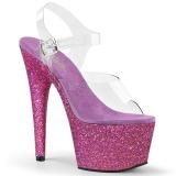 Roxo brilho 18 cm Pleaser ADORE-708HMG sapatos de saltos pole dance