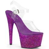 Roxo brilho 18 cm Pleaser ADORE-708LG sapatos de saltos pole dance
