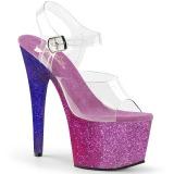 Roxo brilho 18 cm Pleaser ADORE-708OMBRE sapatos de saltos pole dance