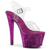 Roxo brilho 18 cm Pleaser SKY-308LG sapatos de saltos pole dance