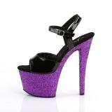 Roxo brilho 18 cm Pleaser SKY-309LG sapatos de saltos pole dance