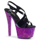 Roxo brilho 18 cm Pleaser SKY-330LG sapatos de saltos pole dance