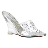 Transparente 10,5 cm LOVELY-401RS Sapatos Cunha Alto