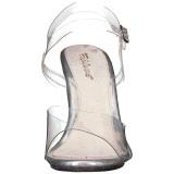 Transparente 10 cm CARESS-408MG Sandálias para noite de festa