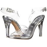 Transparente 11,5 cm CLEARLY-406 sandálias para noite de festa