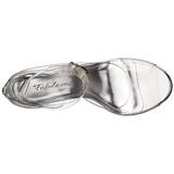 Transparente 11,5 cm CLEARLY-430 sandálias para noite de festa