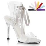 Transparente 11,5 cm GALA-32 sandálias de salto alto mulher