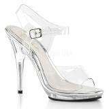 Transparente 12,5 cm POISE-508 sandálias de salto alto mulher