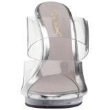 Transparente 12 cm FLAIR-402 Tamancos Altos para Homens