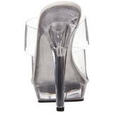 Transparente 13 cm Fabulicious LIP-102 Chinelos Saltos Altos