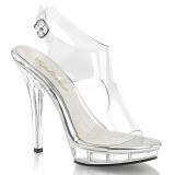 Transparente 13 cm LIP-107 calçados femininos com salto alto