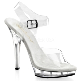 Transparente 13 cm LIP-108 Plataforma Sapatos Salto Alto