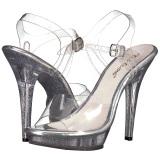 Transparente 13 cm LIP-108MG calçados femininos com salto alto