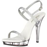 Transparente 13 cm LIP-117 calçados femininos com salto alto