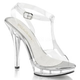 Transparente 13 cm LIP-118 calçados femininos com salto alto