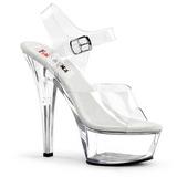 Transparente 15 cm BROOK-208 calçados femininos com salto alto