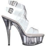 Transparente 15 cm DELIGHT-635 sandálias de salto alto mulher