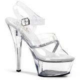 Transparente 15 cm KISS-208R calçados femininos com salto alto