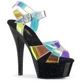 Transparente 15 cm KISS-220MMR sandálias de salto alto mulher