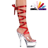 Transparente 15 cm Pleaser KISS-295 Saltos Altos Plataforma