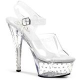 Transparente 15 cm STARDUST-608 calçados femininos com salto alto