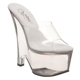 Transparente 16,5 cm Pleaser BEAU-601 Sapatos Cunha Alto
