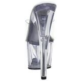 Transparente 18 cm ADORE-701 Plataforma Tamancos Altos