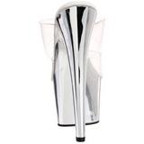 Transparente 18 cm ADORE-702 Cromo Plataforma Tamancos Altos Mulheres