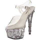 Transparente 18 cm ADORE-708MR Plataforma Sapatos Salto Alto