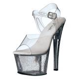 Transparente 18 cm Pleaser SKY-308MG sapatos de salto alto brilho