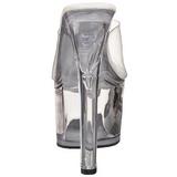 Transparente 18 cm TREASURE-701 plataforma tamancos para striper