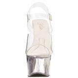 Transparente 18 cm TREASURE-708 plataforma sandália para striper