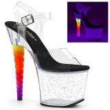 Transparente 18 cm UNICORN-708MG sapatos de saltos pole dance