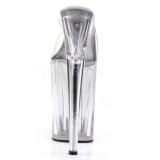 Transparente 23 cm Pleaser INFINITY-901 Plataforma Tamancos Altos