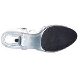 Transparente 8 cm BELLE-308 Saltos Altos para Homens