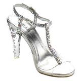 Transparente Cristal 11,5 cm CLEARLY-426 sandálias para noite de festa