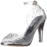 Transparente Cristal 11,5 cm CLEARLY-430RS sandálias para noite de festa