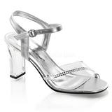 Transparente Cristal 8,5 cm ROMANCE-308R sandálias para noite de festa