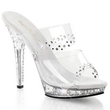 Transparente Cristal Platform 13 cm LIP-102RS Chinelos Saltos Altos