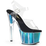 Turquesa 18 cm ADORE-708HGI Holograma plataforma salto alto mulher