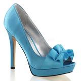 Turquesa Cetim 12 cm LUMINA-42 sapato scarpin para noite de gala