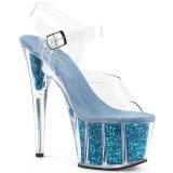 Turquesa brilho 18 cm Pleaser ADORE-708G sapatos de saltos pole dance