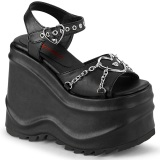 Vegan 15 cm Demonia WAVE-09 lolita sandálias de cunha plataforma