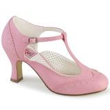 Vegan 7,5 cm FLAPPER-26 retro vintage scarpin salto alto rosa