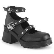 Vegan 7 cm Demonia BRATTY-07 sapatos de saltos chunky plataforma