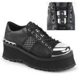 Vegan 7 cm GRAVEDIGGER-02 Goticas Sapatos Homem Plataforma